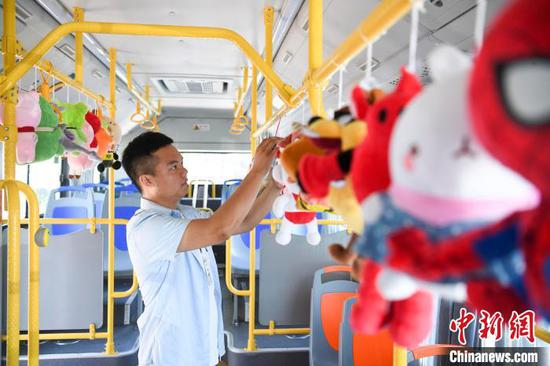 Driver turns bus into toy world